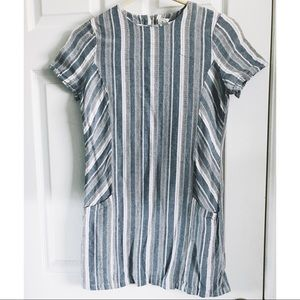 Paper Crane short sleeve striped dress